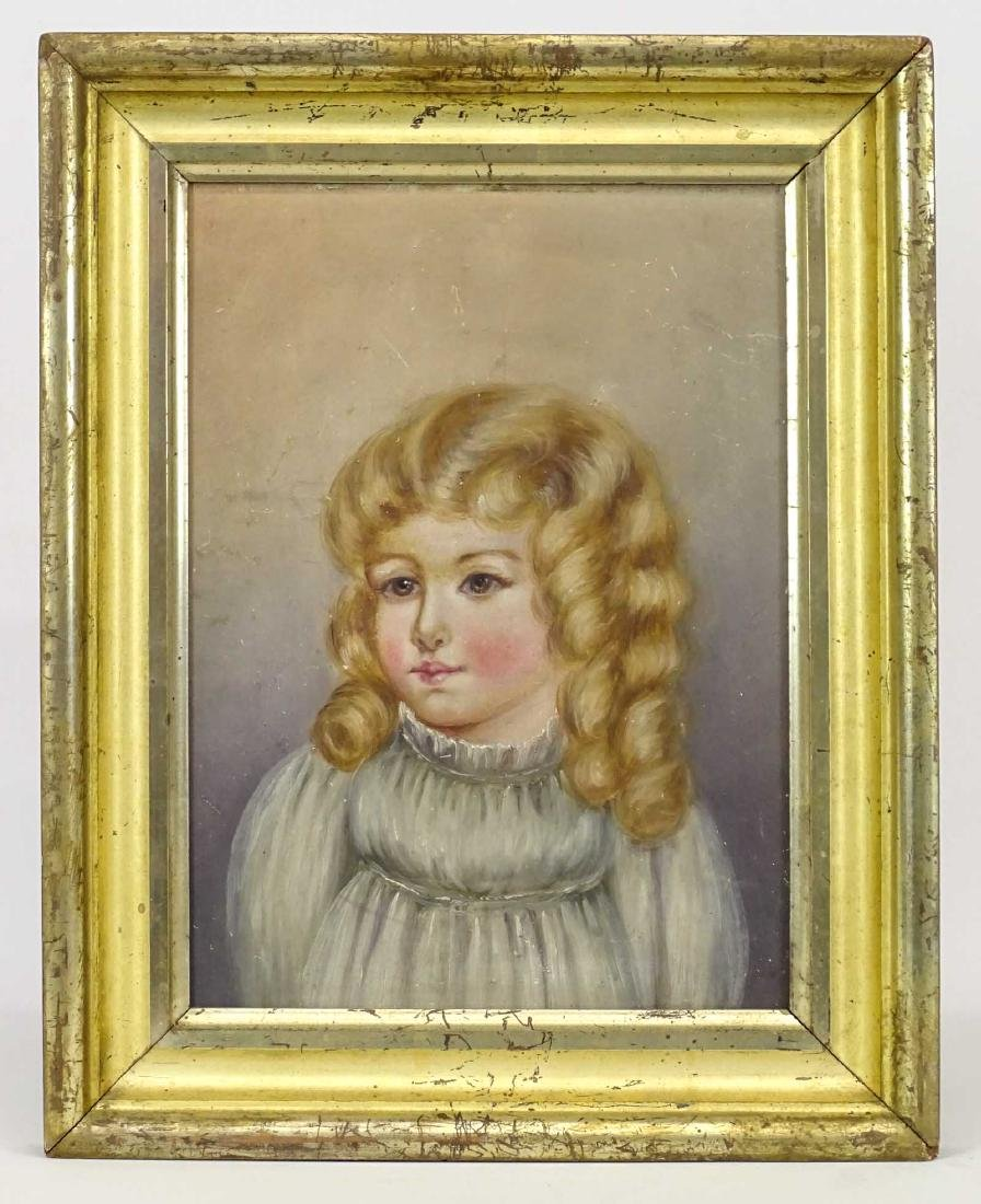 American School, Portrait Of A Little Girl