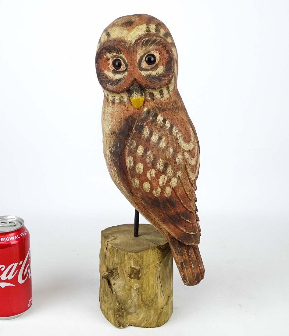 Folk Art Carved Owl