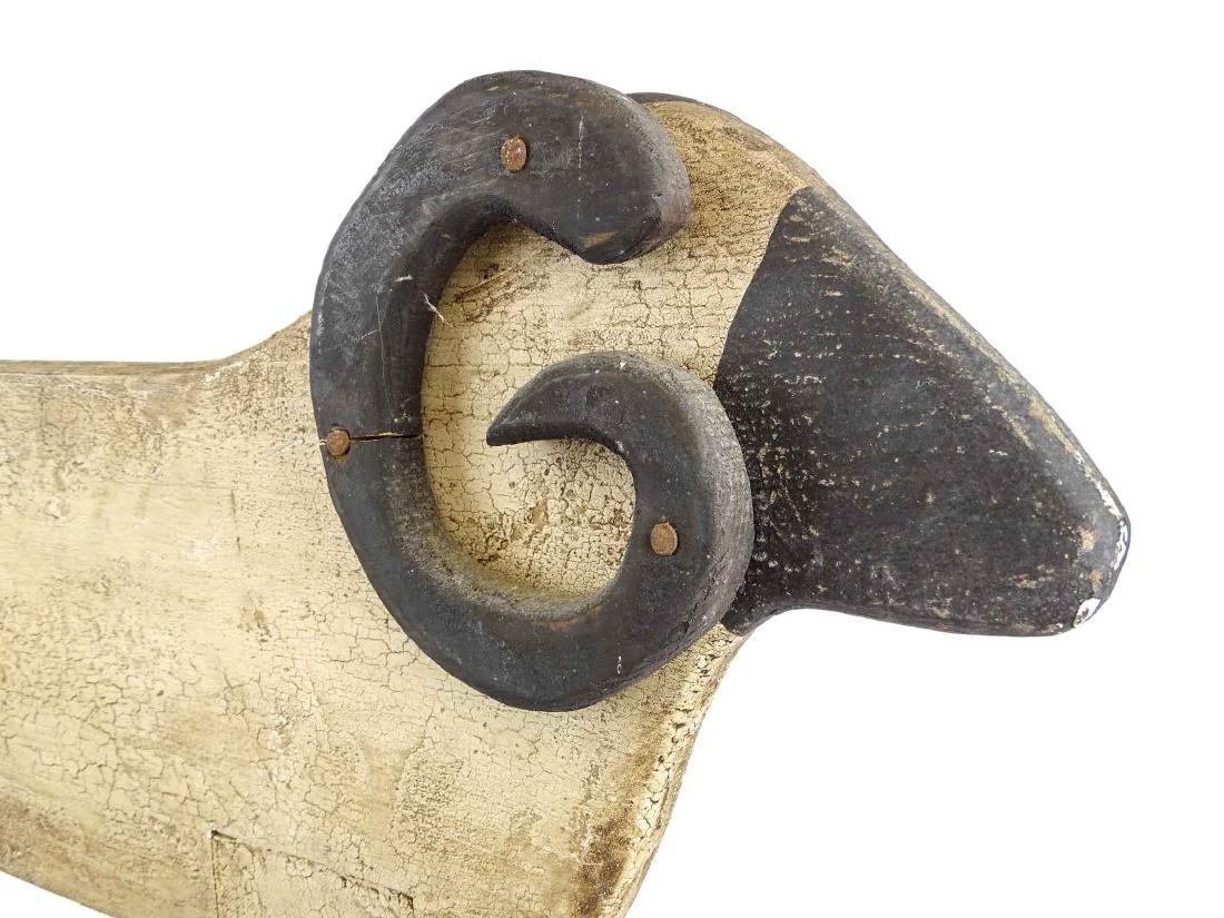 Folk Art Ram Carving - 8