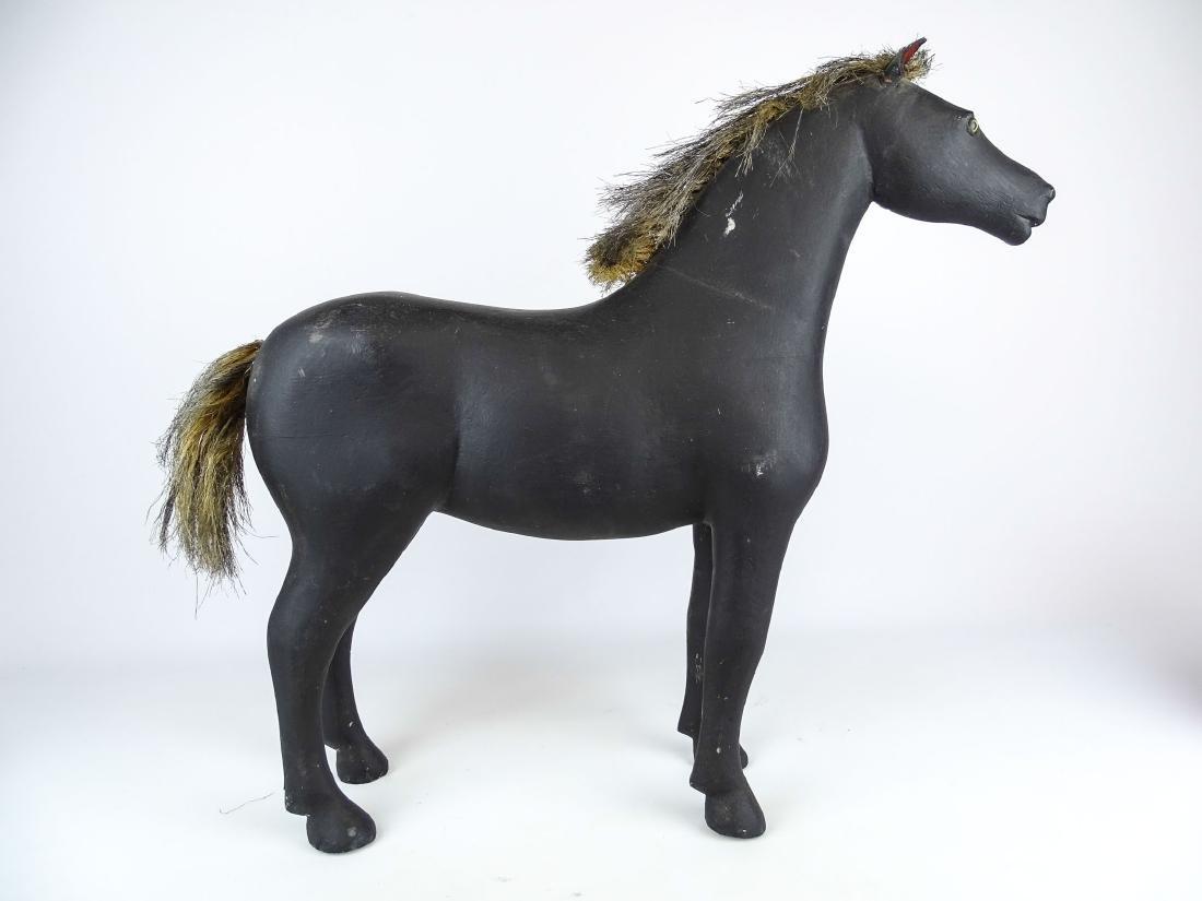 Folk Art Carved Horse - 7
