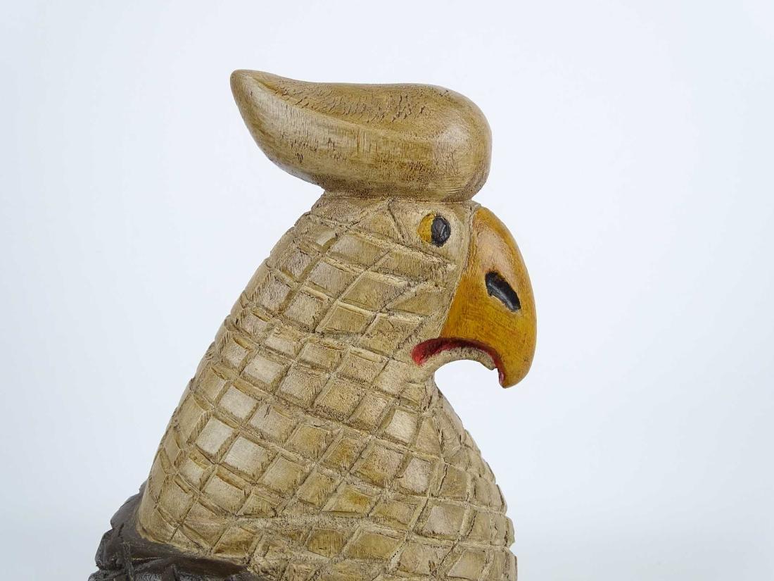 Folk Art Carved Wooden Eagle - 3