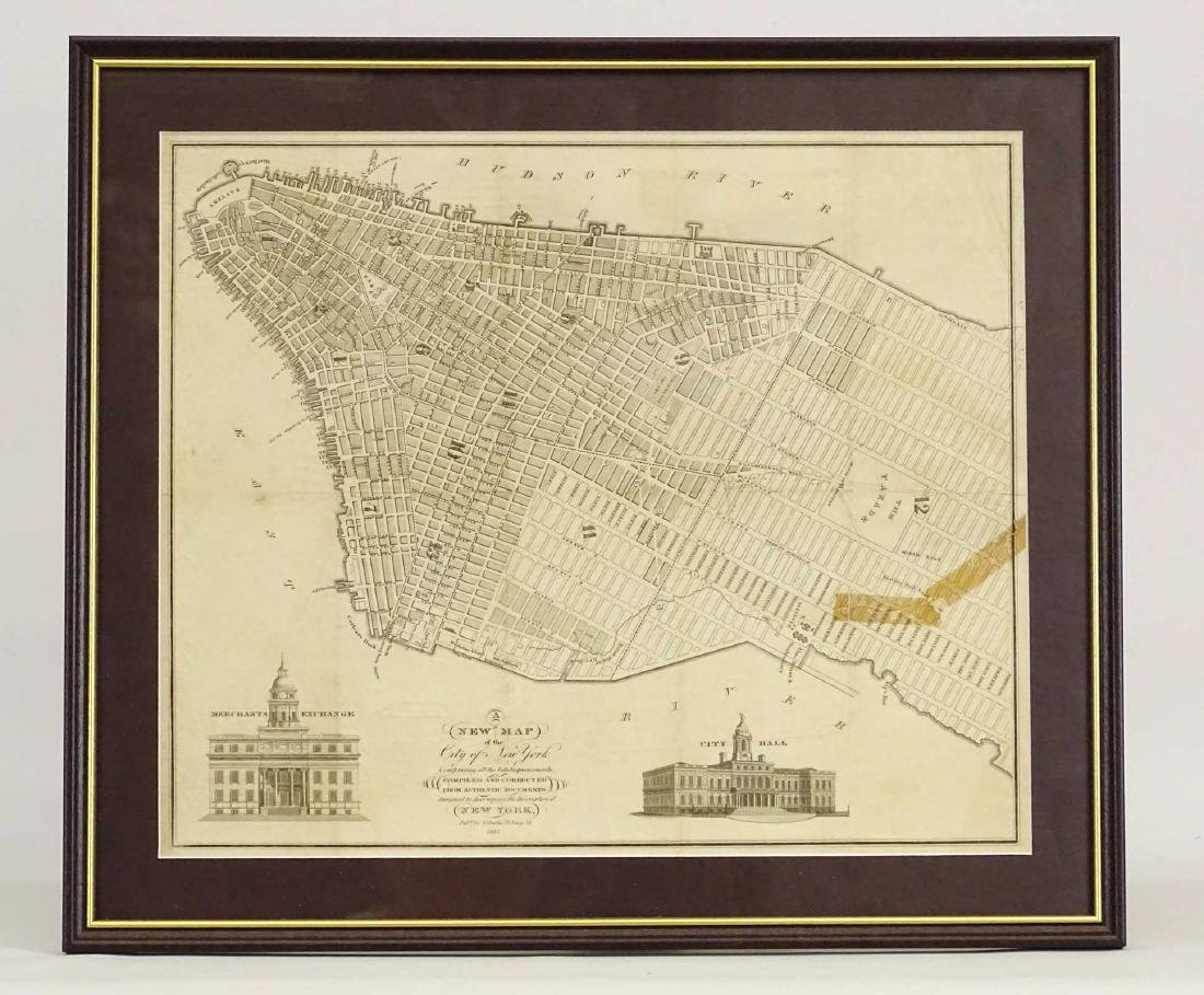 1827 Map Of New York City