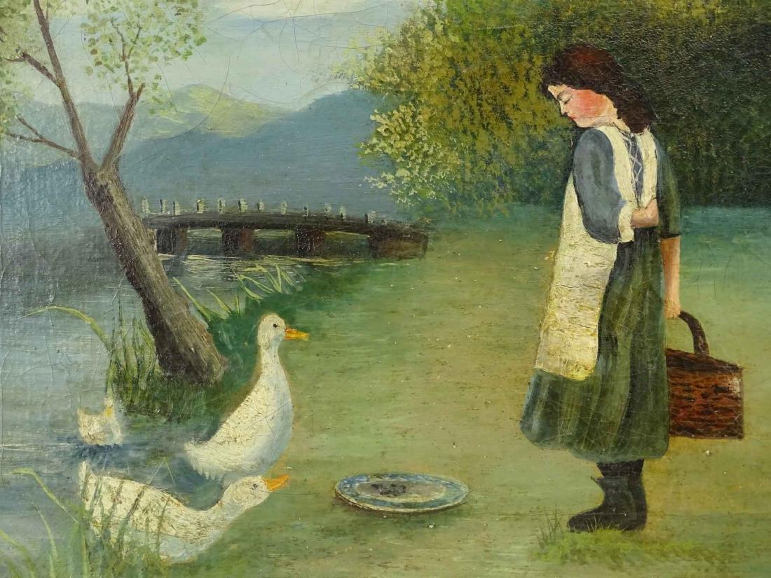 American School, Little Girl With Ducks - 3