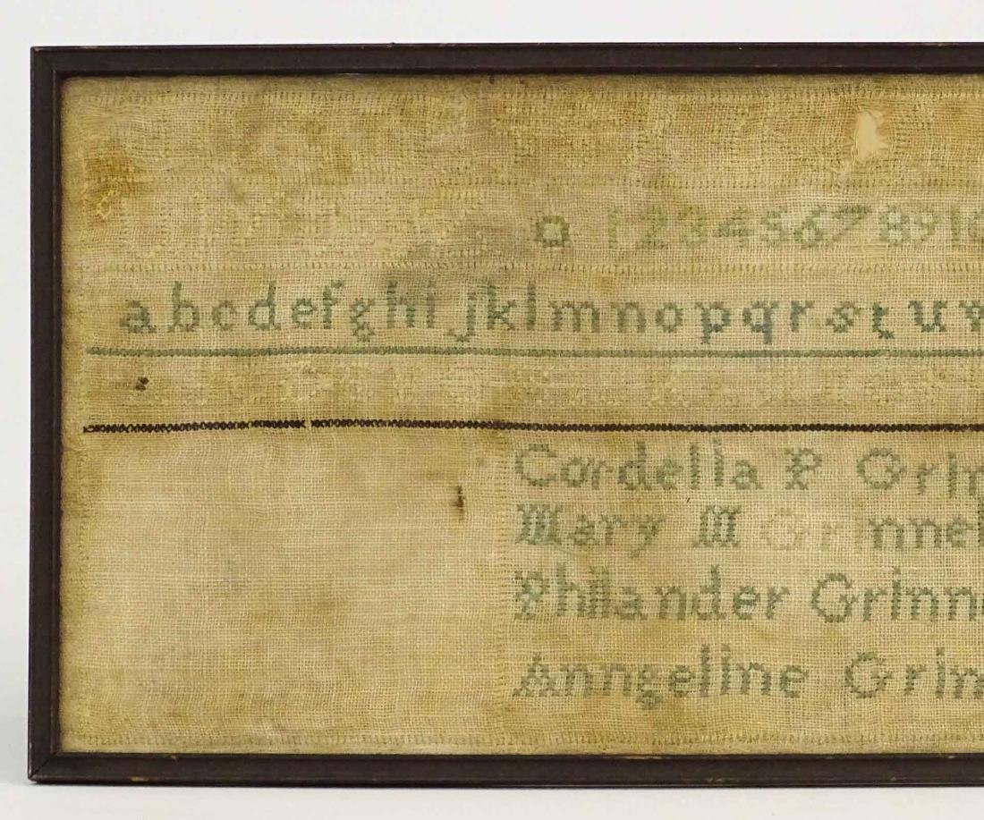 19th c. Needlework Sampler - 2