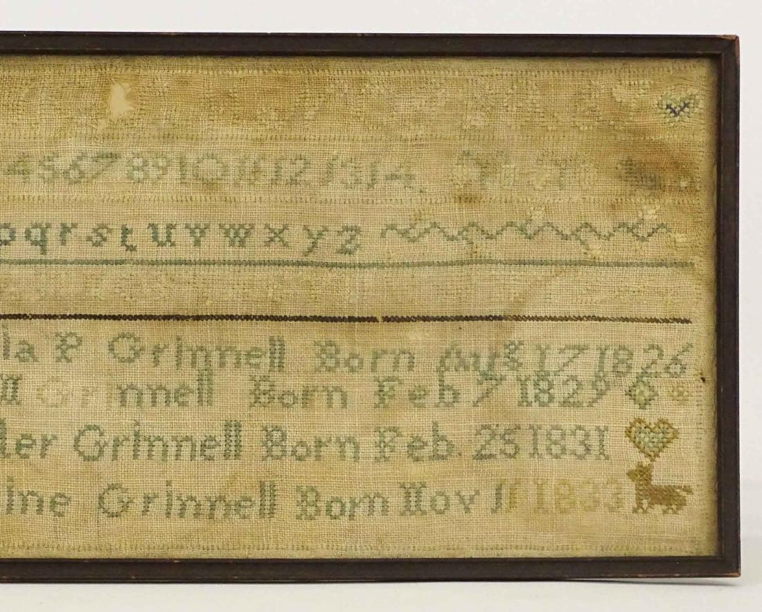 19th c. Needlework Sampler - 3