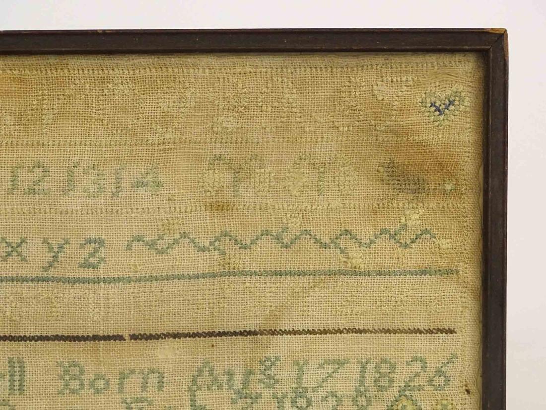 19th c. Needlework Sampler - 4