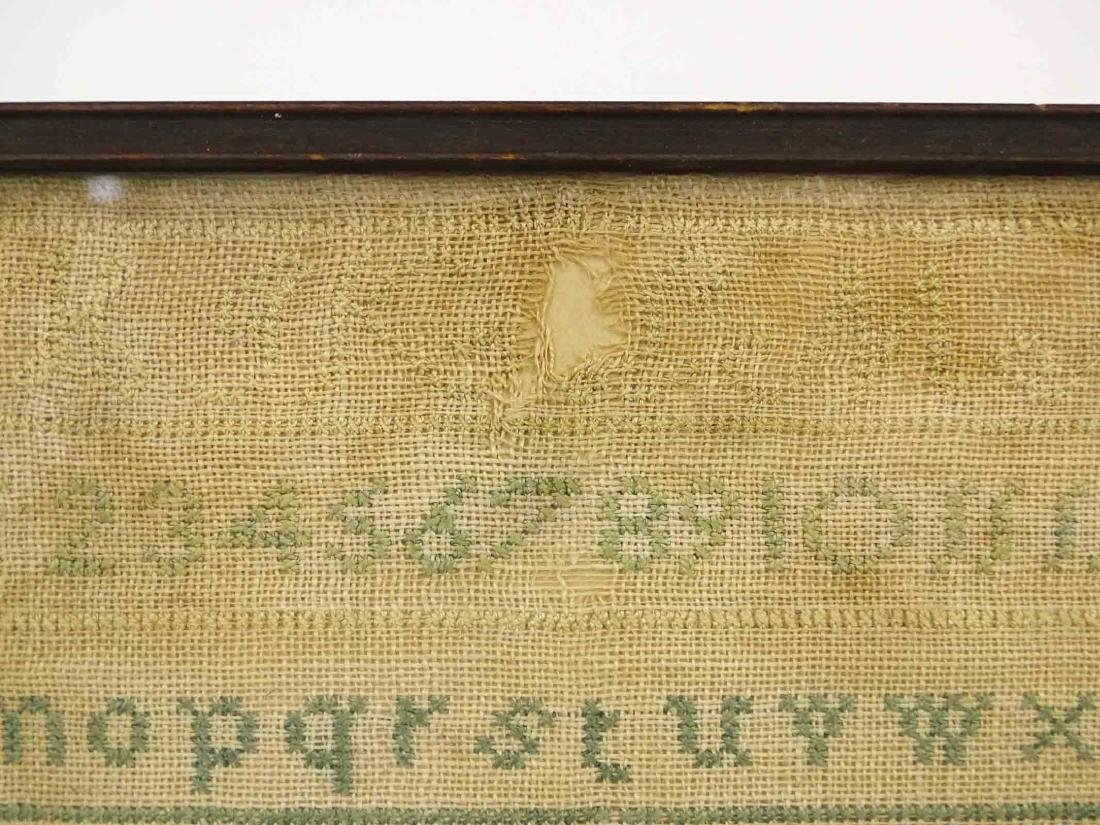 19th c. Needlework Sampler - 5