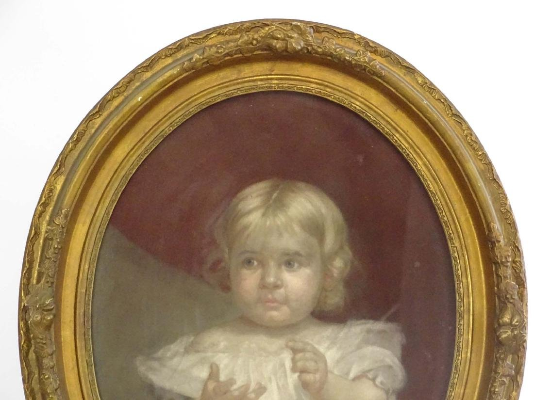 19th c. Pastel, Portrait Of Child - 2