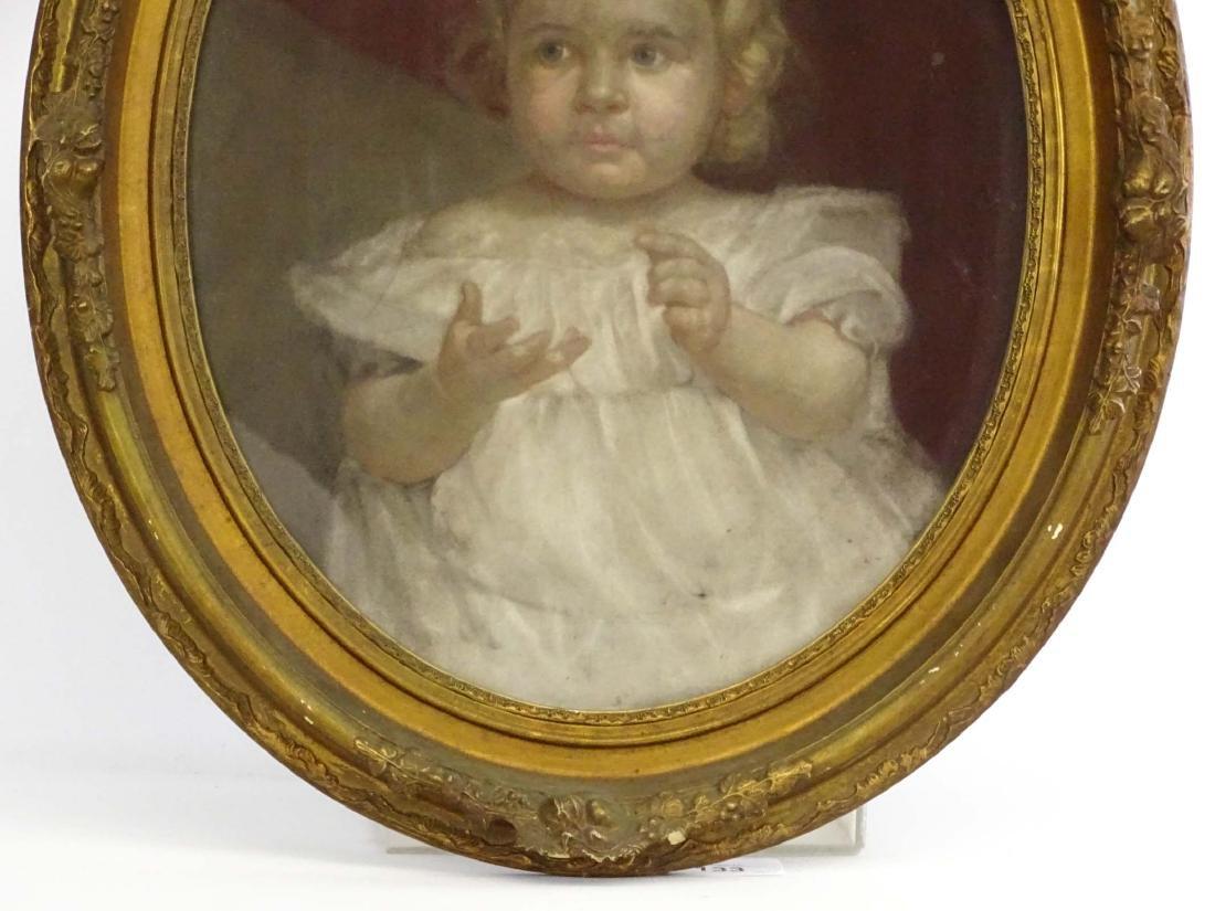 19th c. Pastel, Portrait Of Child - 3