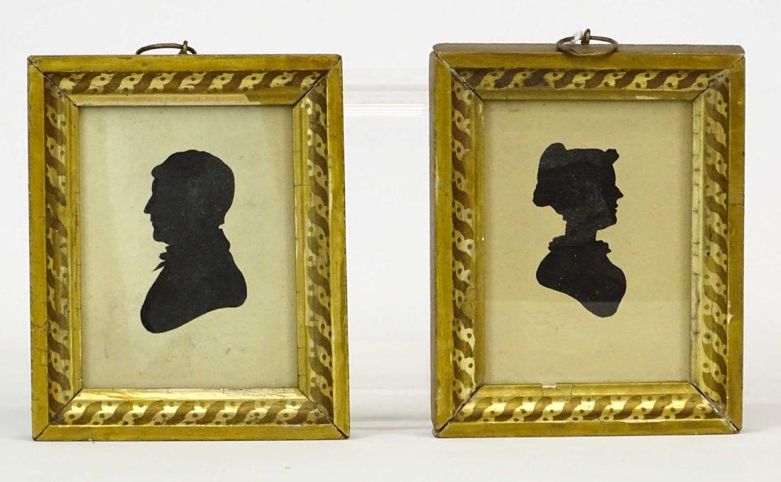 Pair 19th c. Silhouettes