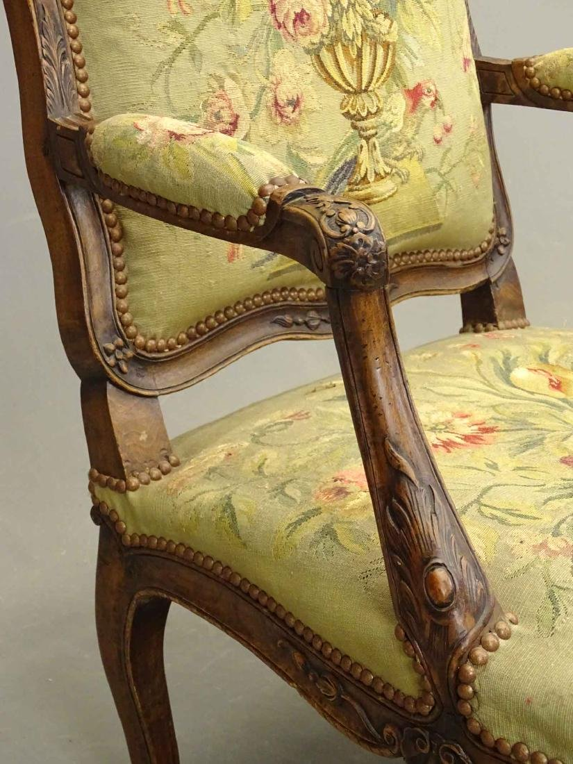 Pair French Needlepoint Chairs - 5