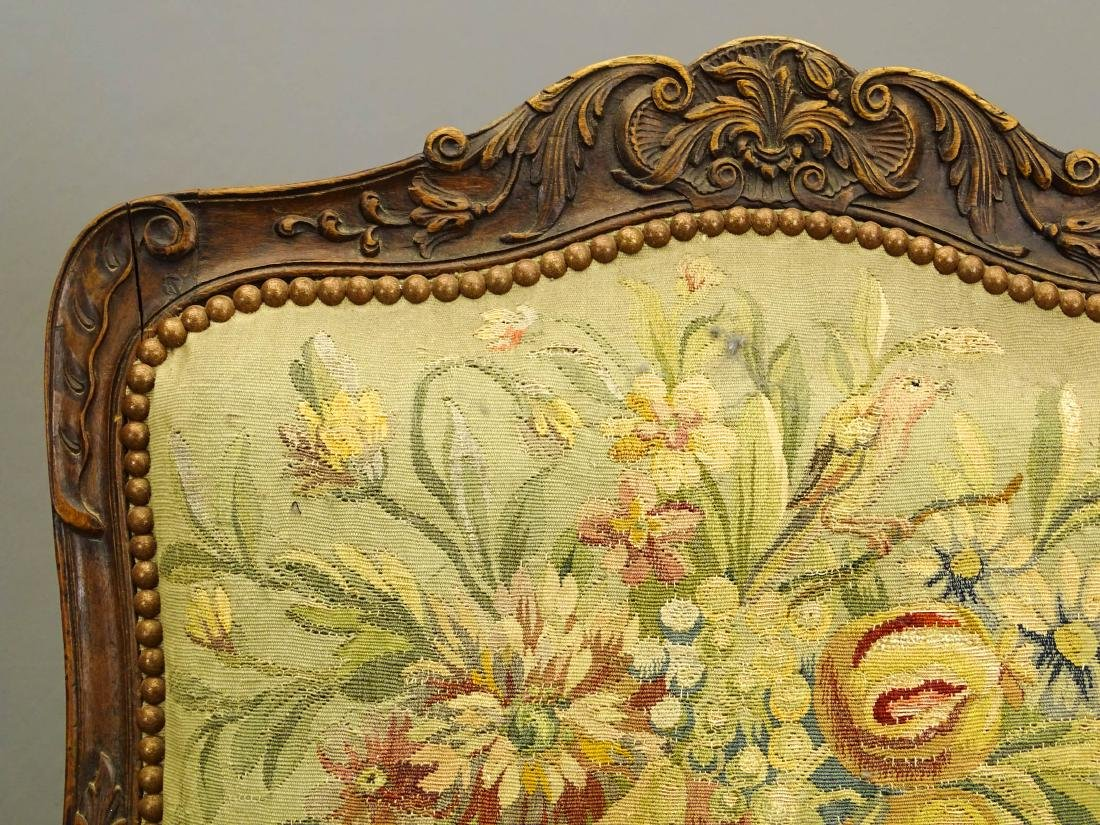 Pair French Needlepoint Chairs - 8