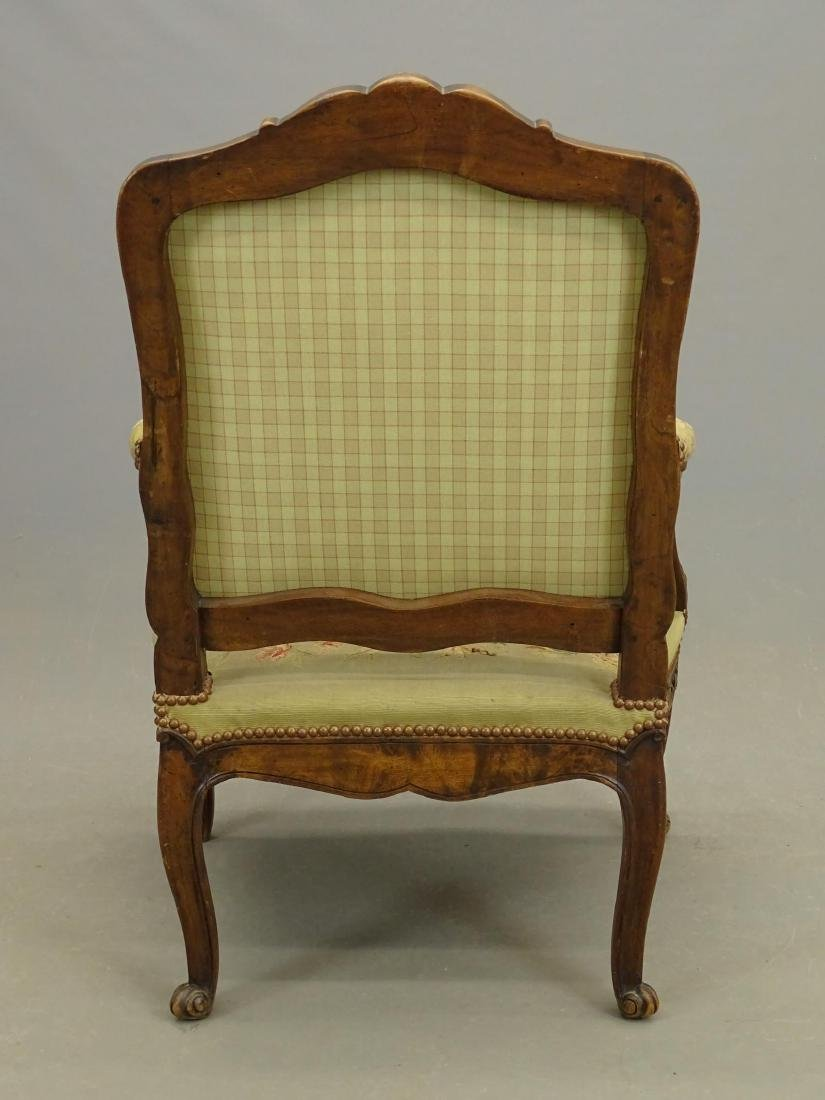 Pair French Needlepoint Chairs - 9