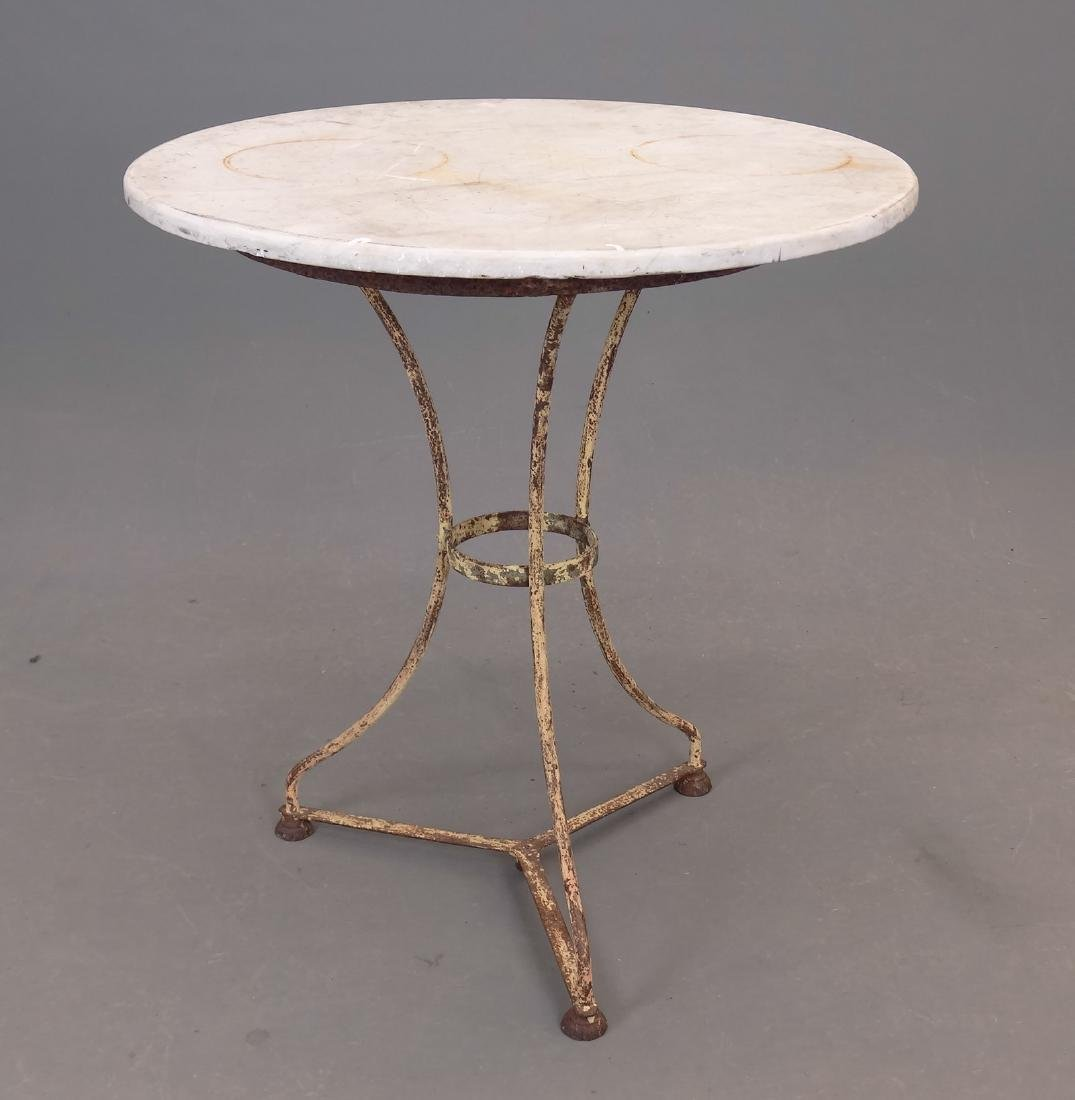 Marble Top Iron Base Table