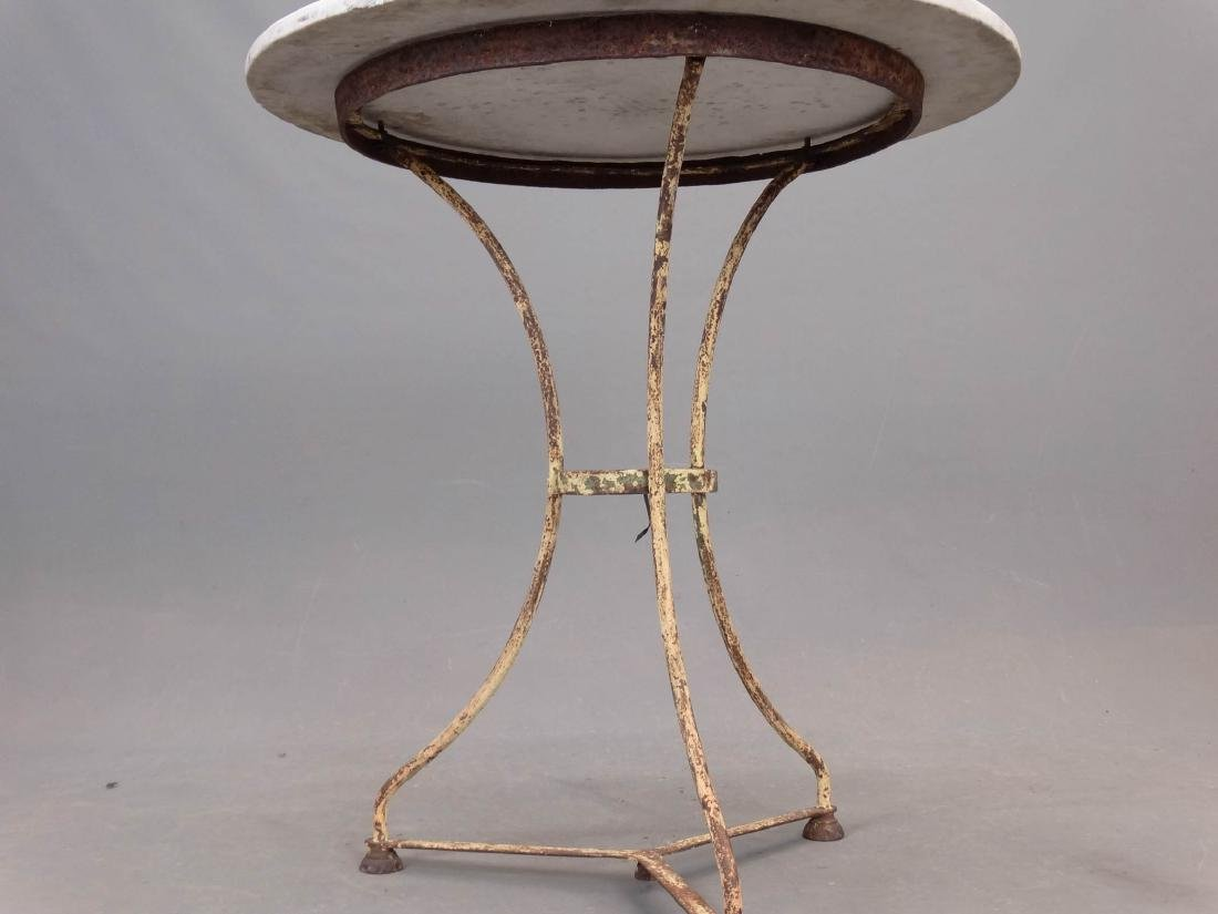 Marble Top Iron Base Table - 3
