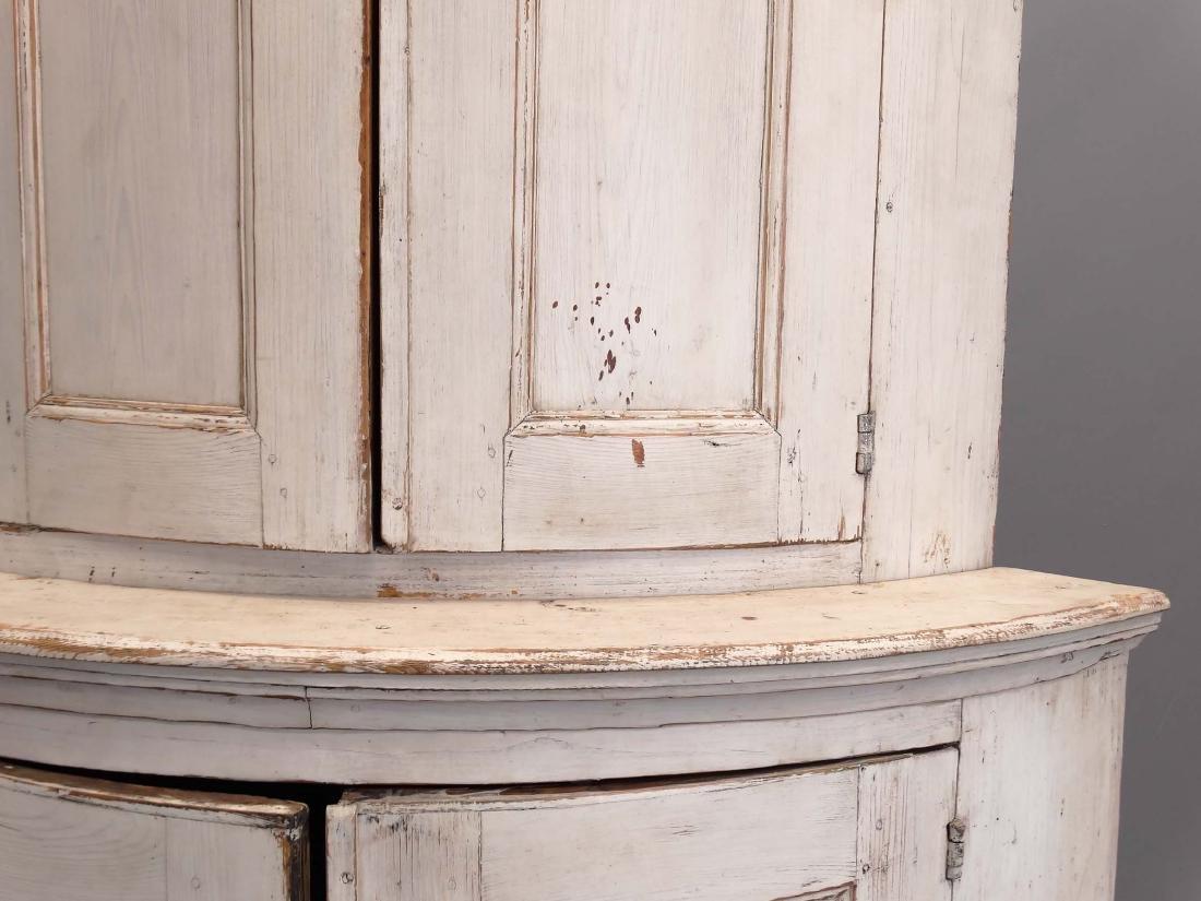 19th c. French Barrel Back Corner Cupboard - 4