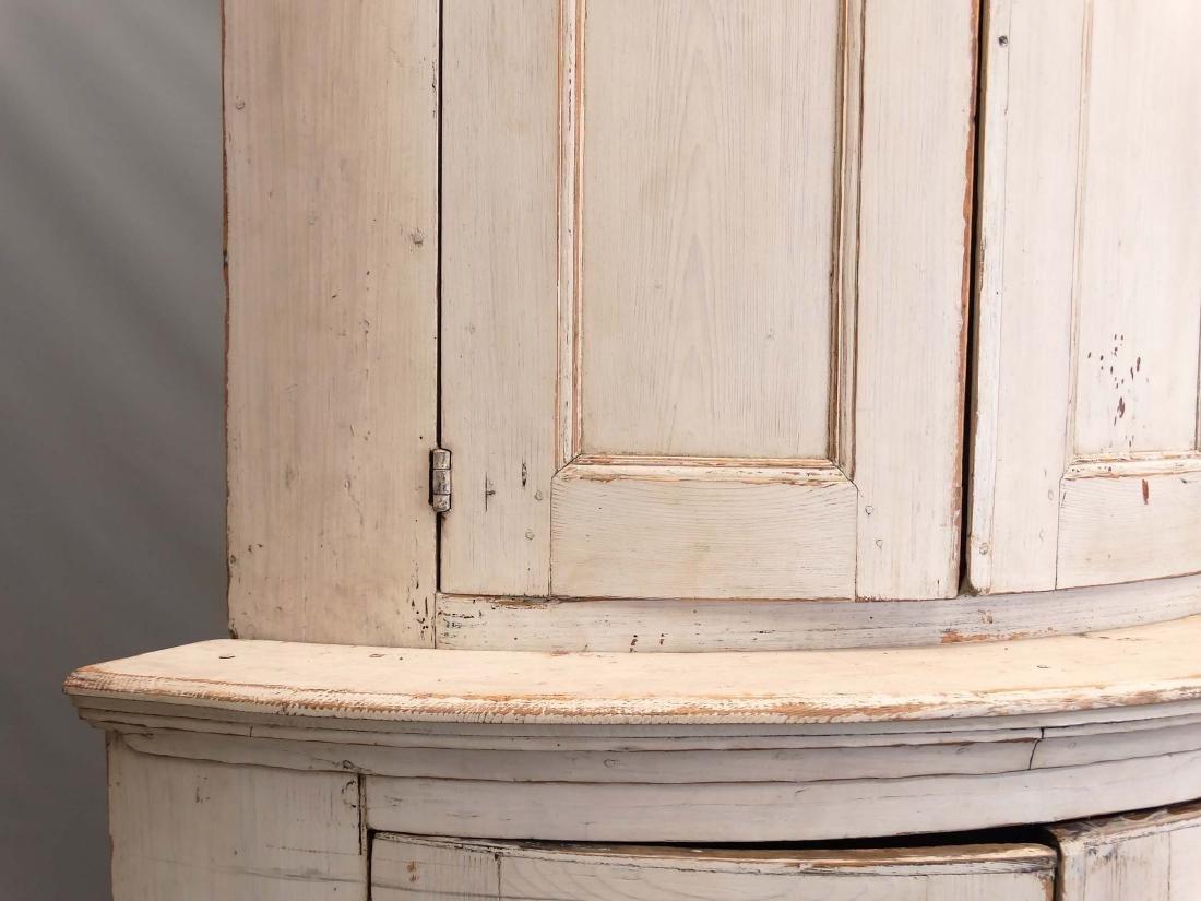 19th c. French Barrel Back Corner Cupboard - 5