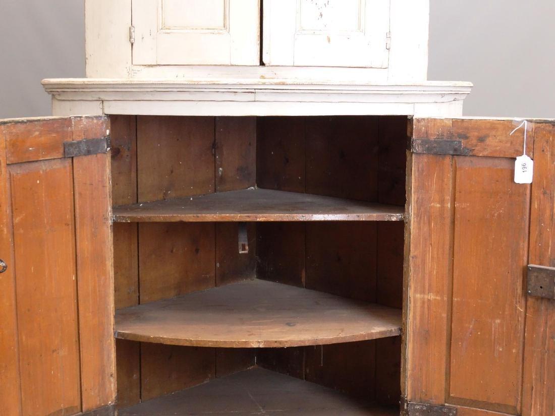 19th c. French Barrel Back Corner Cupboard - 6