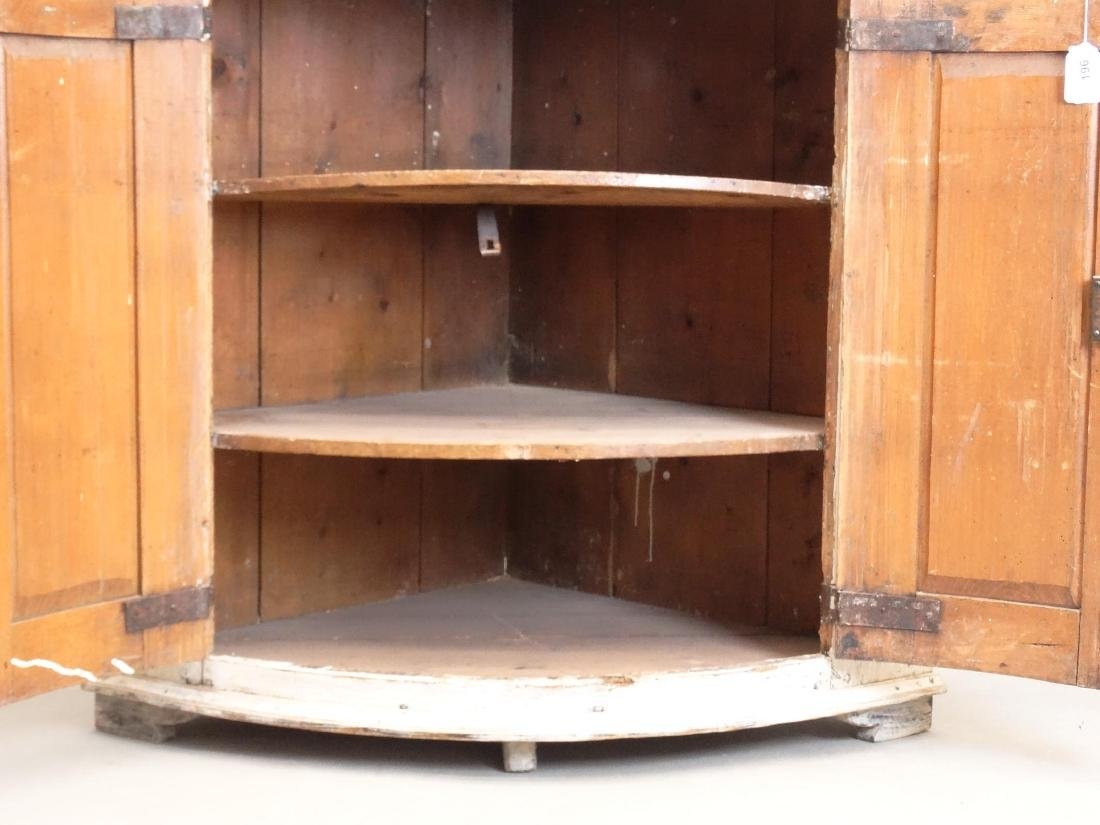 19th c. French Barrel Back Corner Cupboard - 7