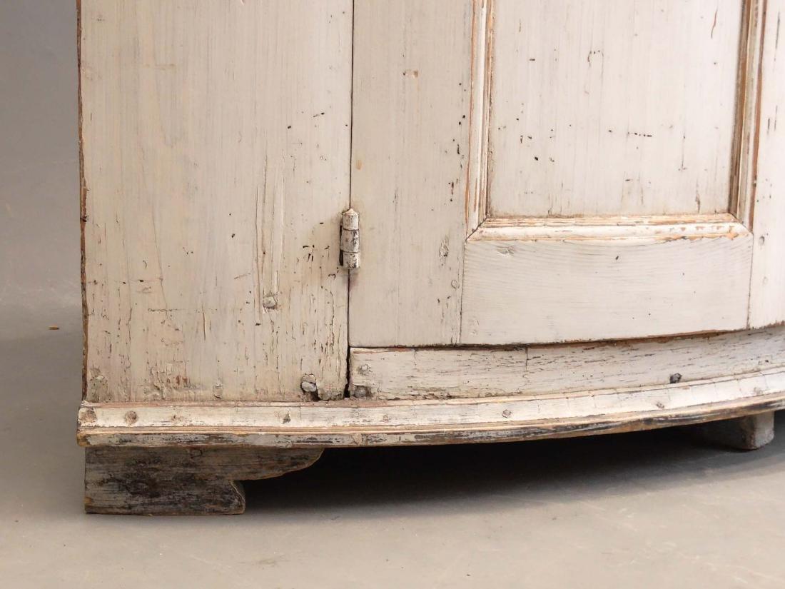 19th c. French Barrel Back Corner Cupboard - 8