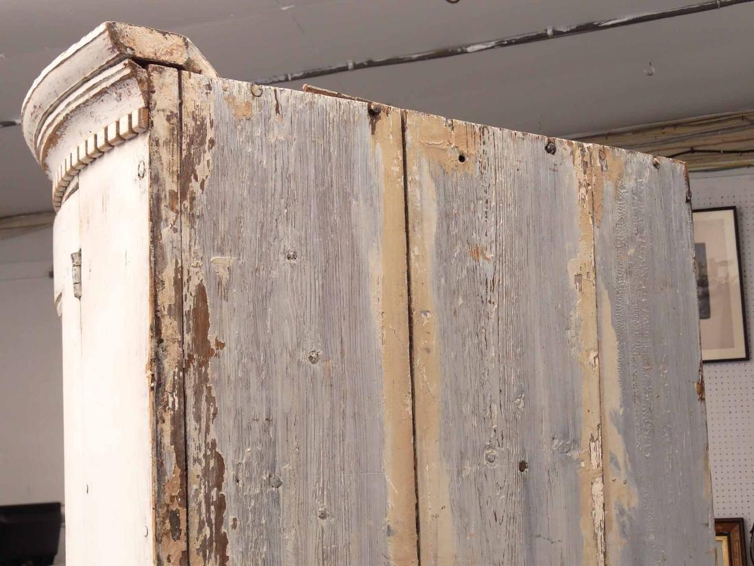 19th c. French Barrel Back Corner Cupboard - 9