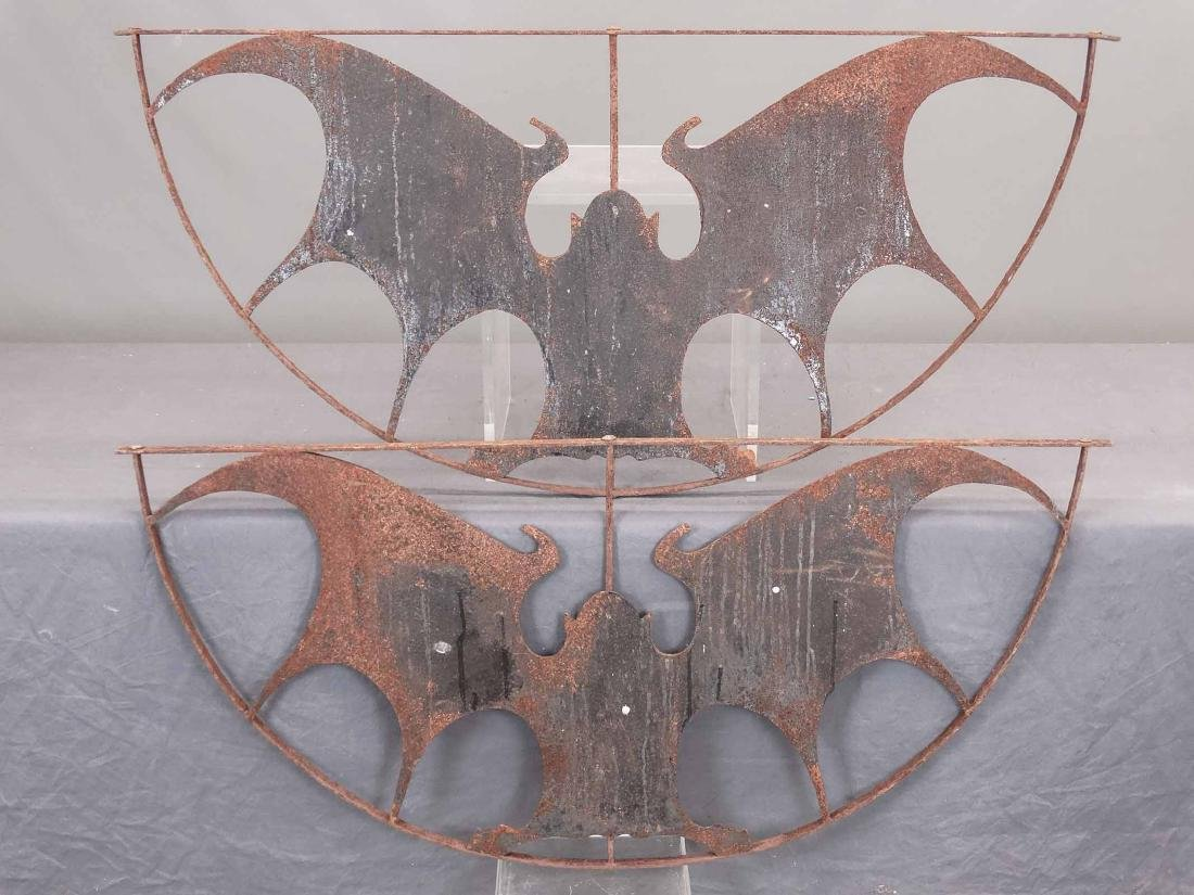 Pair Iron Bat Architectural Windows