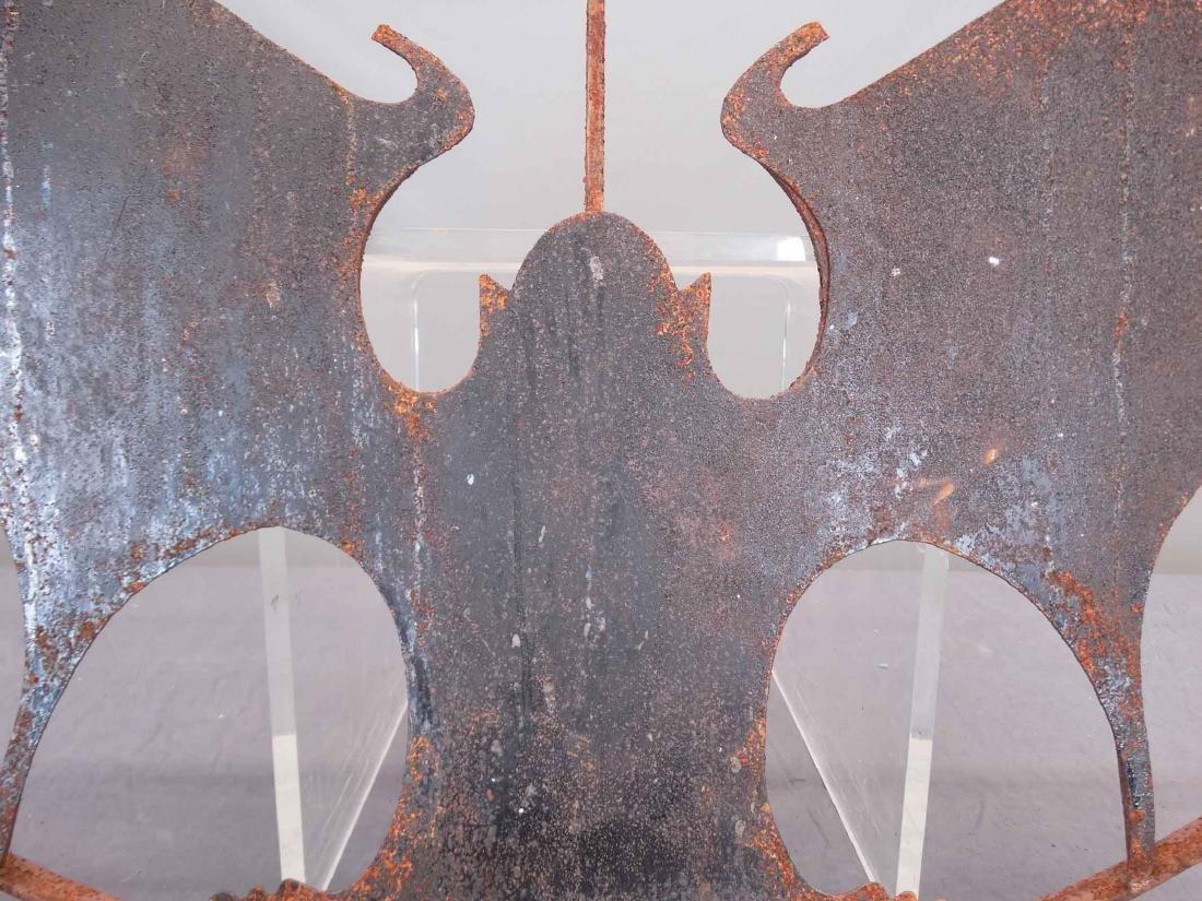 Pair Iron Bat Architectural Windows - 3