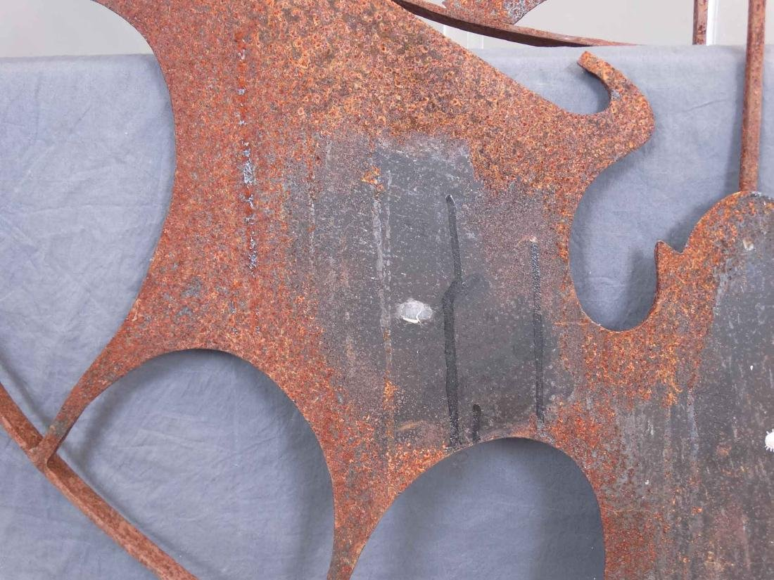 Pair Iron Bat Architectural Windows - 4