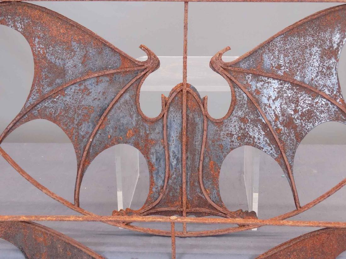 Pair Iron Bat Architectural Windows - 6