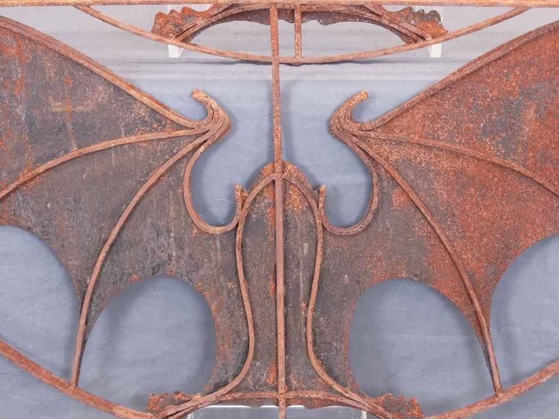Pair Iron Bat Architectural Windows - 7