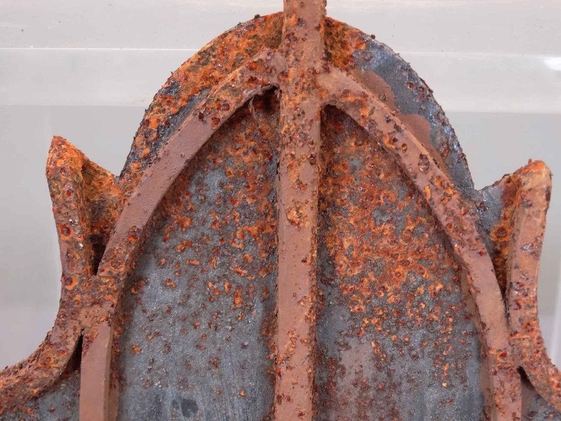 Pair Iron Bat Architectural Windows - 8