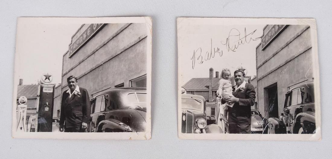 Original Babe Ruth Autographed Photograph