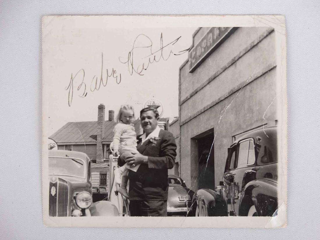 Original Babe Ruth Autographed Photograph - 2
