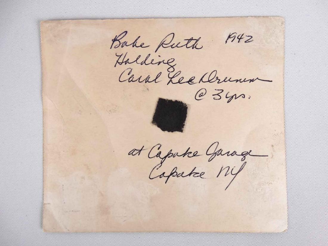 Original Babe Ruth Autographed Photograph - 3