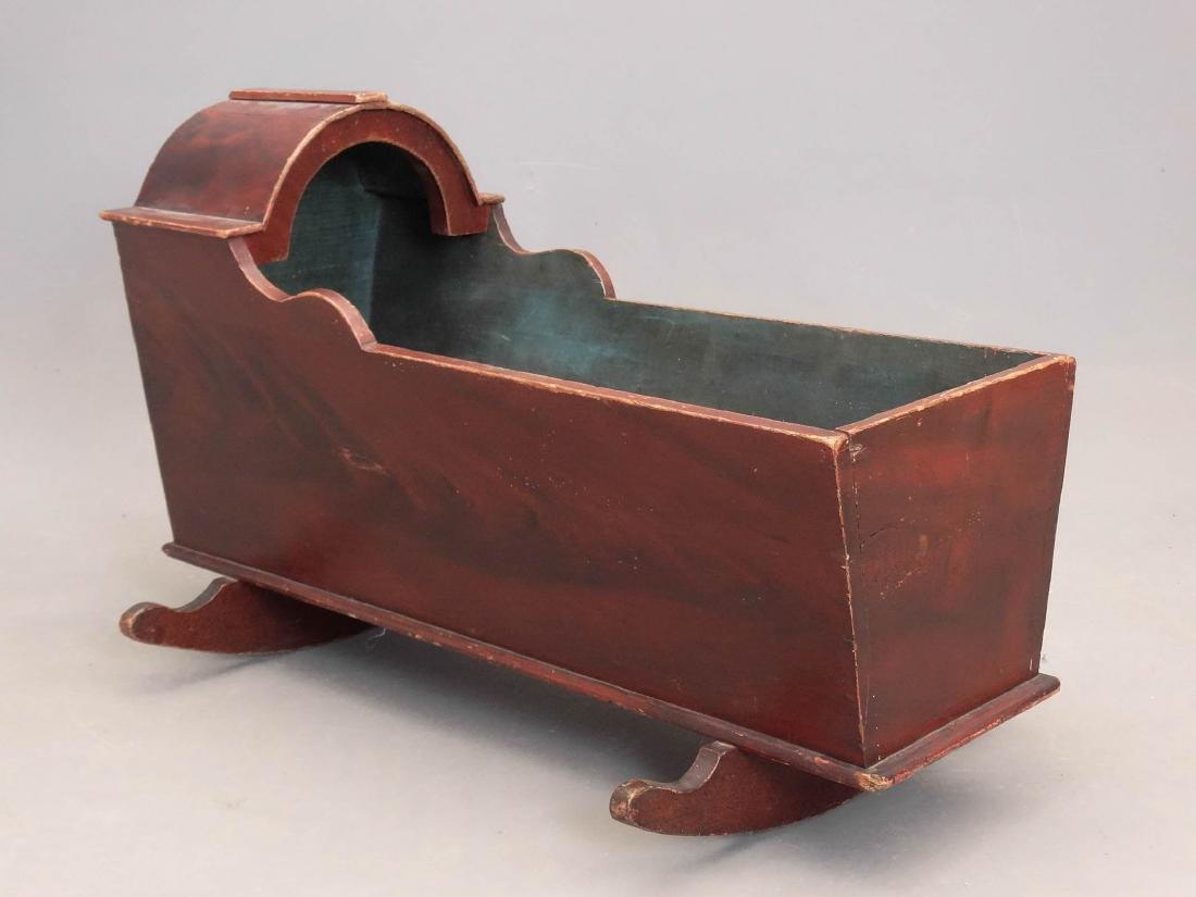 19th c. Hooded Cradle