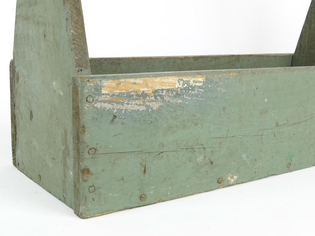 Tool Carrier & Bone Handled Flatware Lot - 3
