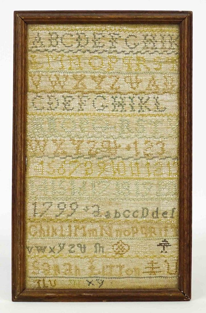 19th c. Needlework Sampler