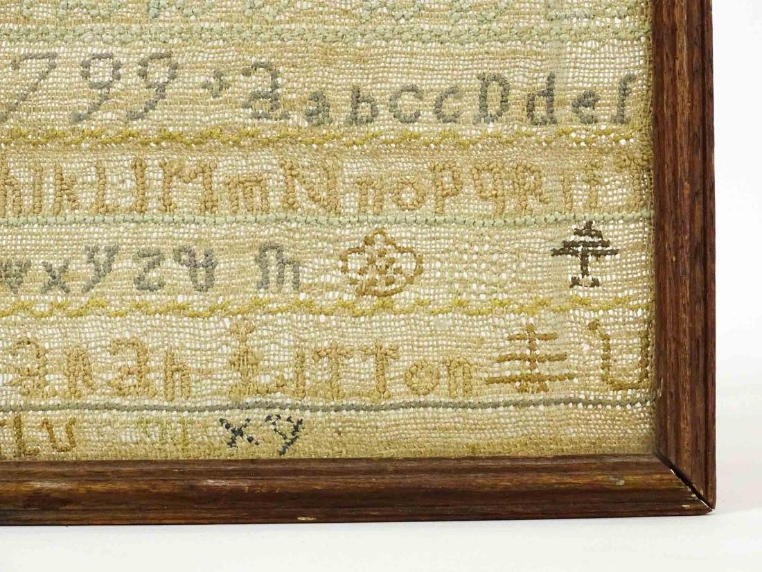 19th c. Needlework Sampler - 4