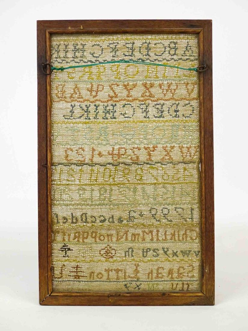 19th c. Needlework Sampler - 5