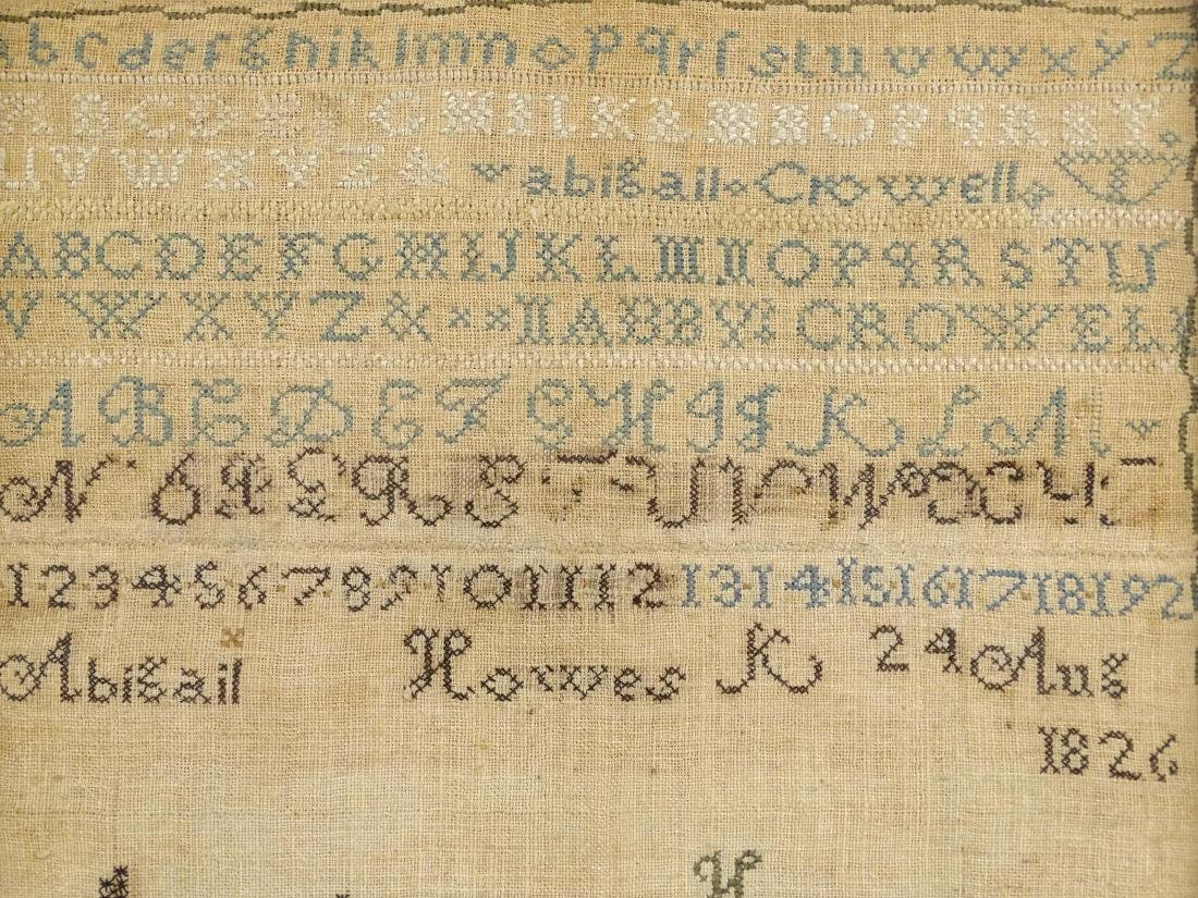 19th c. Needlework Sampler - 3