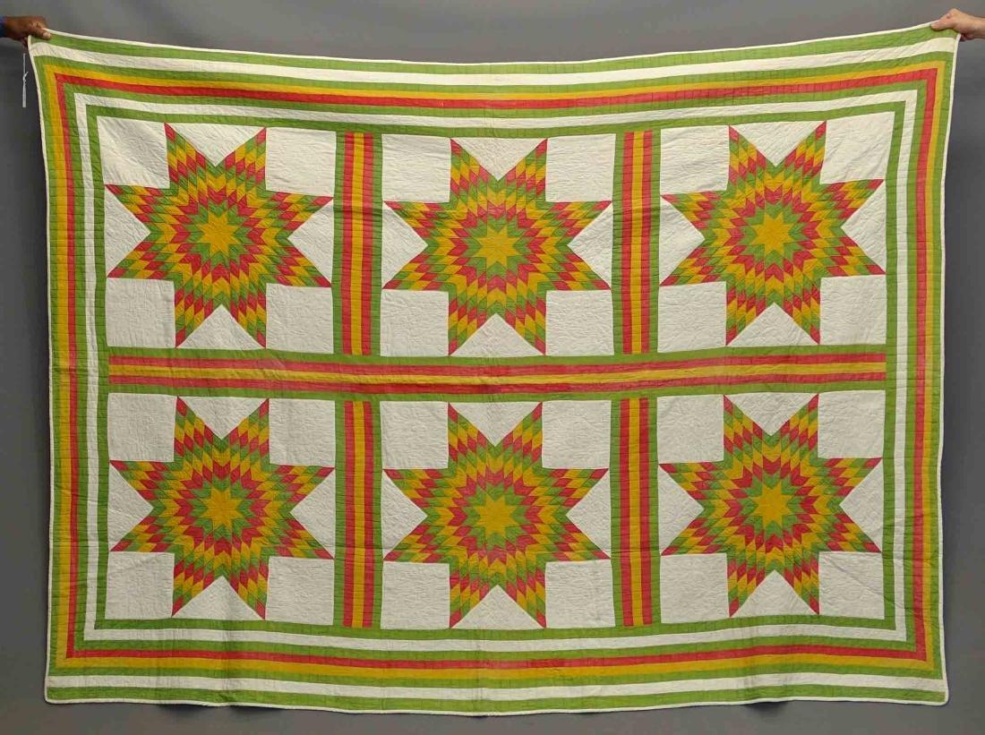 C. 1870's Star Quilt