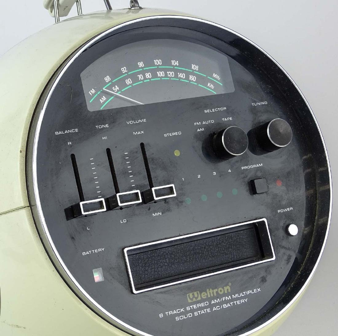 Vintage Weltron 8 Track Radio - 2