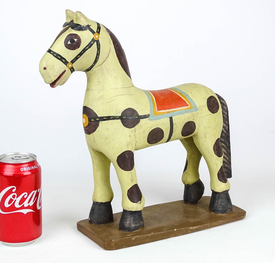 Folk Art Painted Wooden Horse