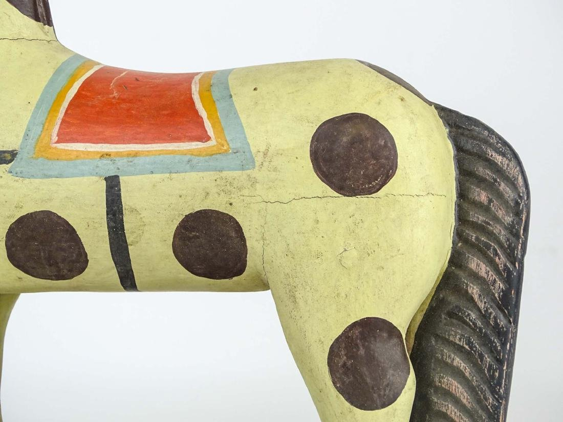 Folk Art Painted Wooden Horse - 5