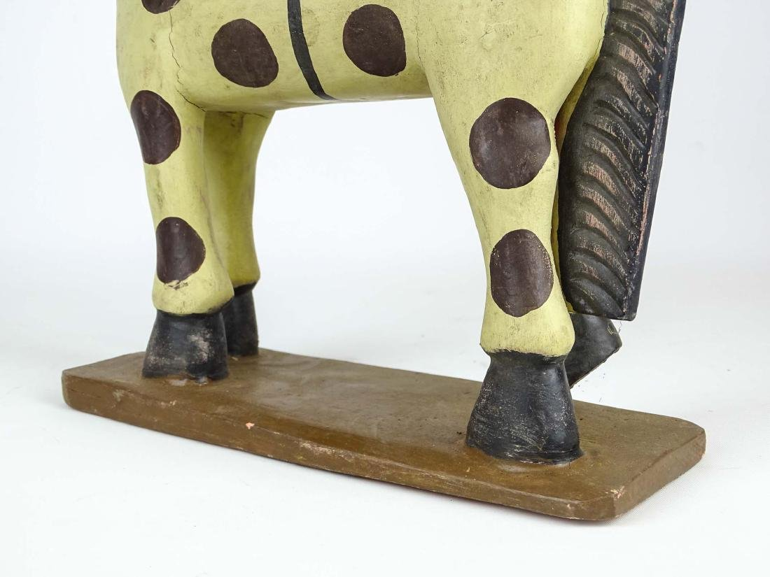 Folk Art Painted Wooden Horse - 6