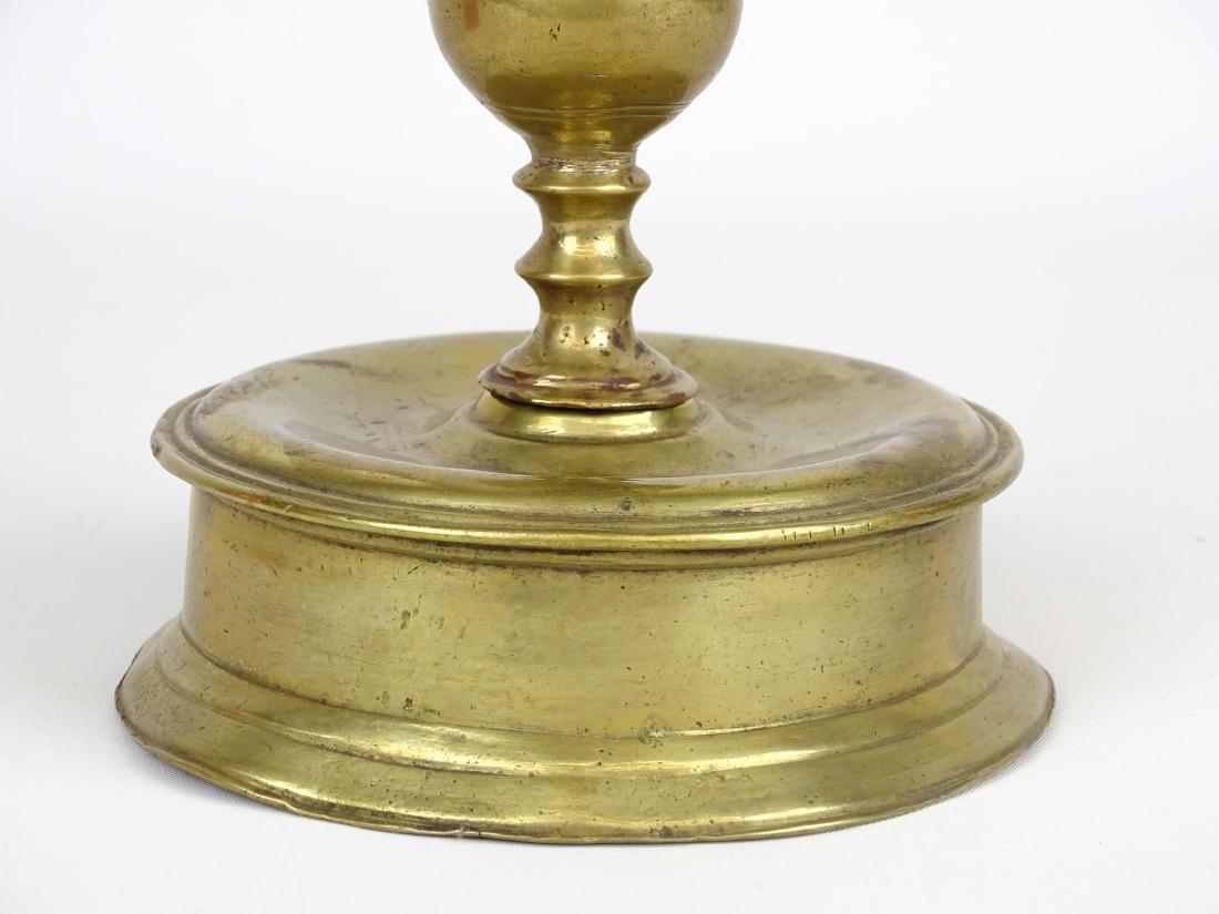 17th c. Brass Candlestick - 2
