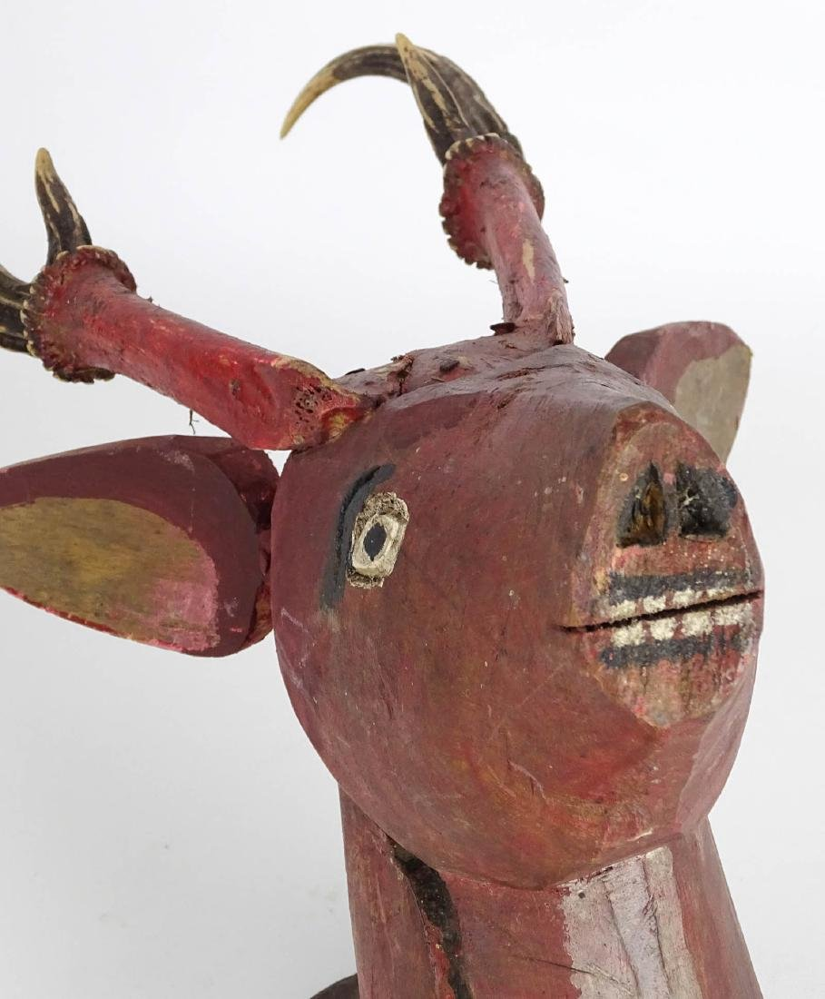 Folk Art Deer Head - 2