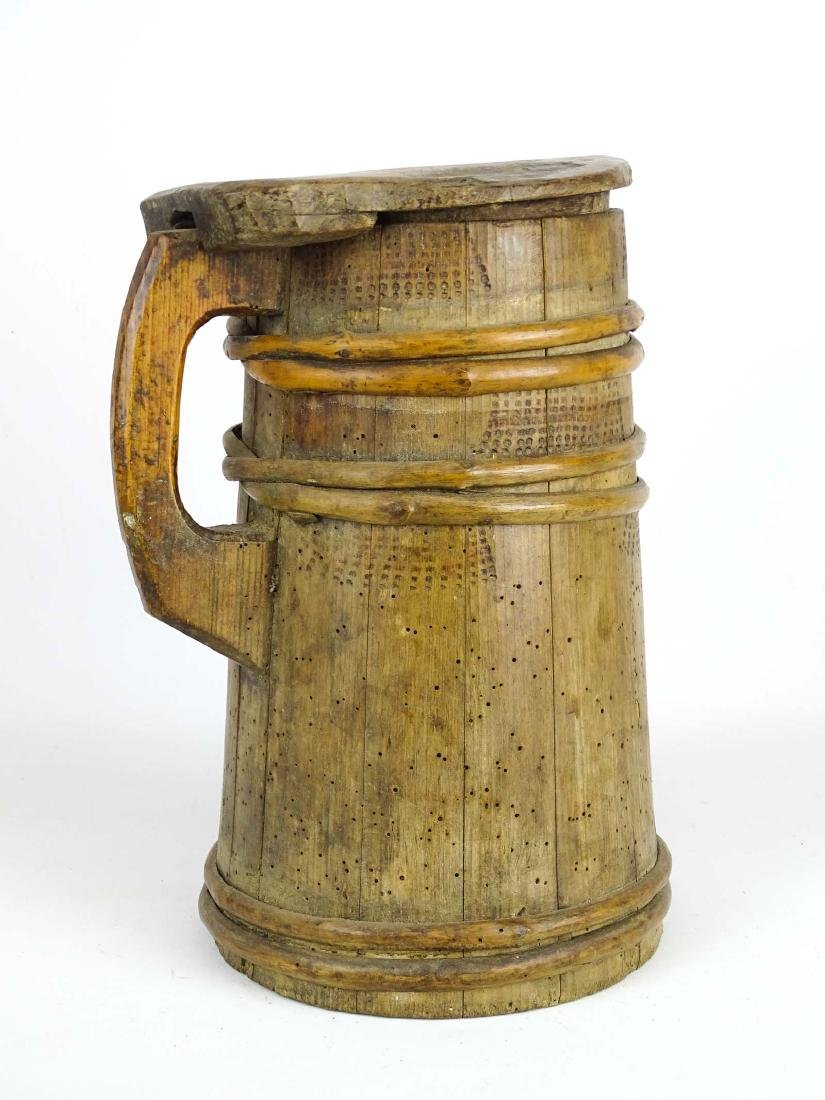 19th c. Wooden Tankard - 4