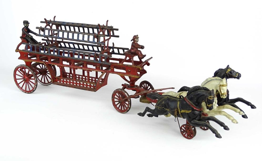 Cast Iron Fire Truck - 8