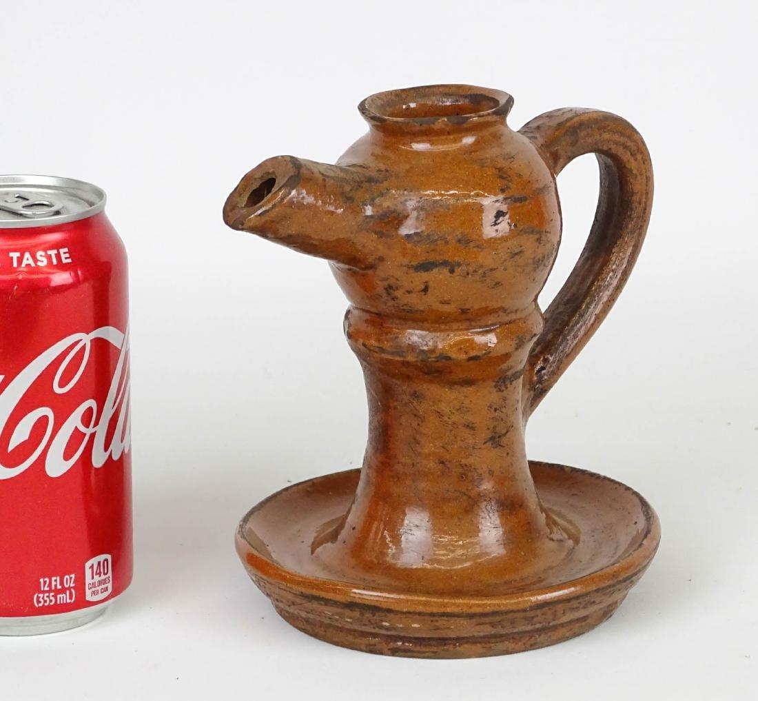 Redware Oil Lamp